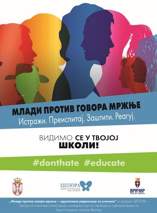 Poster, Mladi protiv govora mrznje