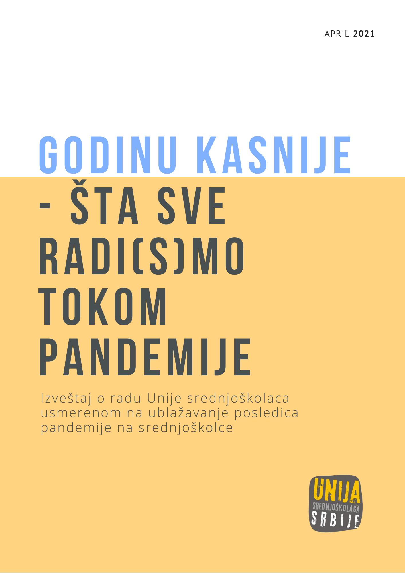 godinu kasnije_izveštaj o radu za ublažavanje pandemije